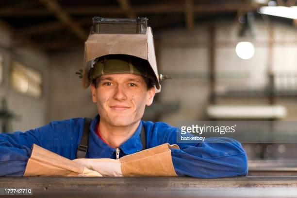 Steel mill worker