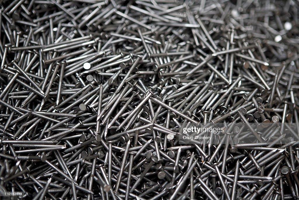 Steel Nails : Stock Photo