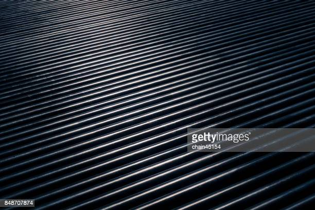 Steel of pipe, Cylindrical metal pipes while sun shining metal pipes.