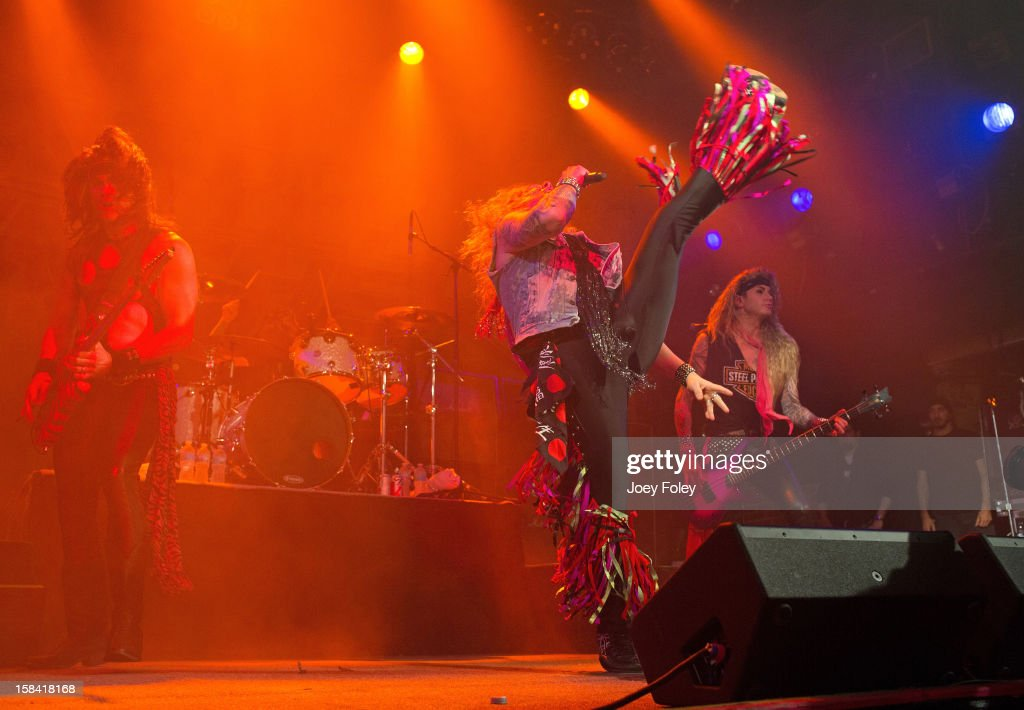 Steel Panther performs in concert at Bogart's on December 15, 2012 in Cincinnati, Ohio.