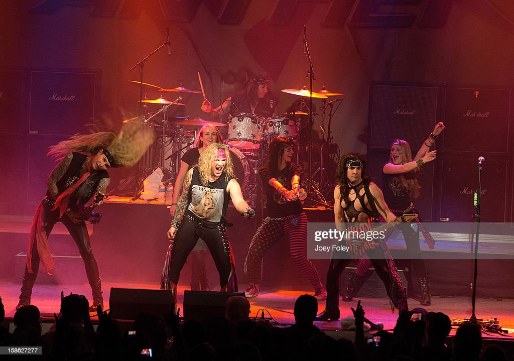 Steel Panther with guests onstage in concert at Bogart's on December 15, 2012 in Cincinnati, Ohio.