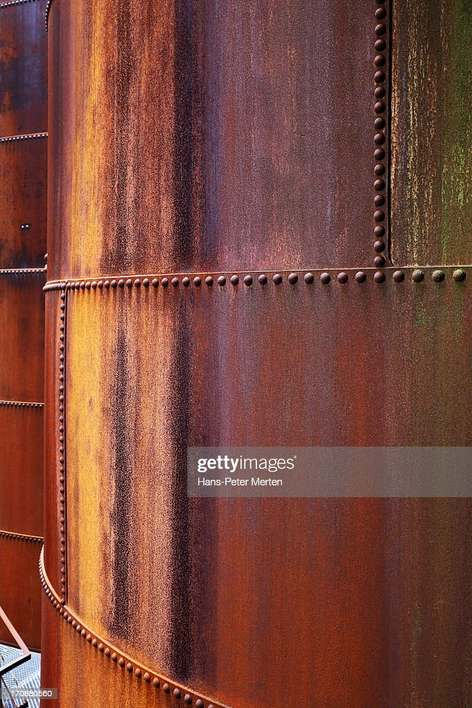 steel plates with rivets : Stock Photo