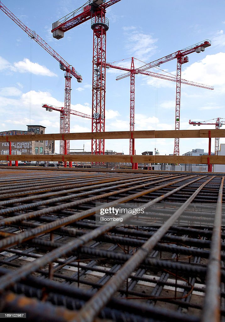 Steel reinforcement bars used in the construction process for New construction building process