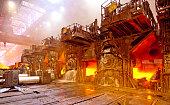 Hot steel sheet production