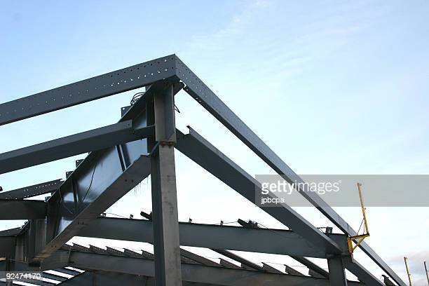 Steel skeleton at a construction site
