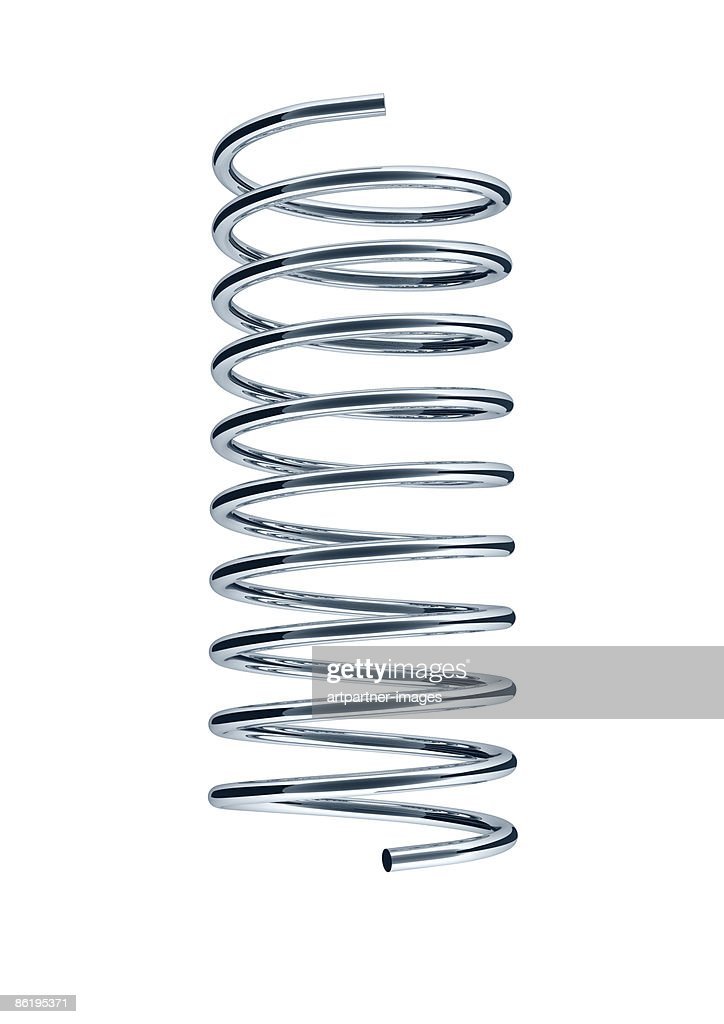 steel spring on white background