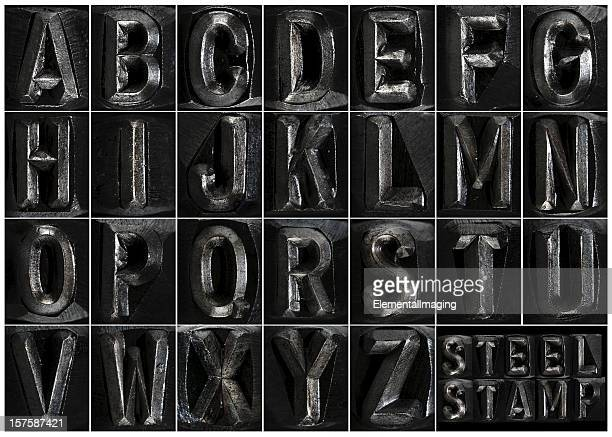 steel stamp complete alphabet