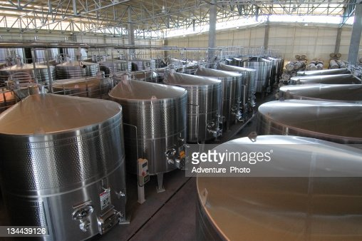 Steel Vats used in Making Wine