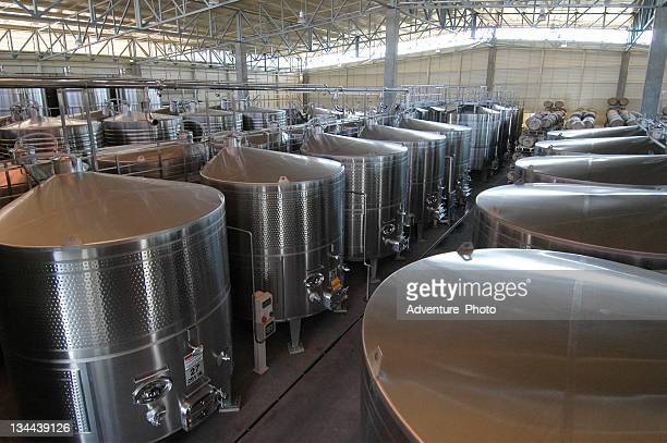 Steel Vats used in Making Wine