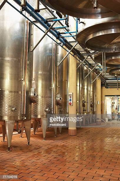 Steel Wine Vats in a Row