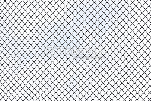 Steel Wire Mesh On White Background Isolated Stock Photo | Thinkstock