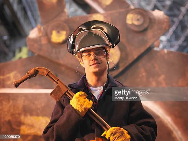 Steel Worker In Plant