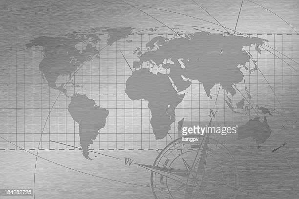 Mapa mundial de acero