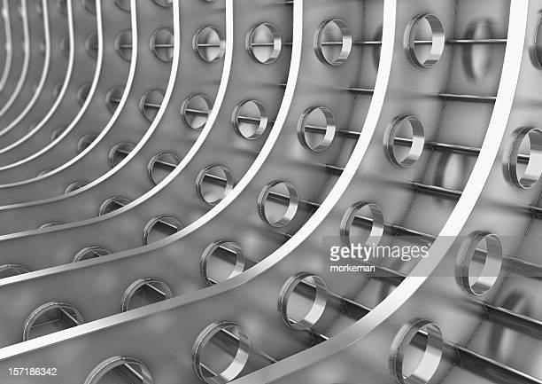 steel/aluminum welded framework
