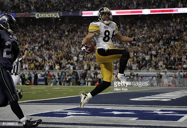 Steelers Hines Ward during Super Bowl XL between the Pittsburgh Steelers and Seattle Seahawks at Ford Field in Detroit Michigan on February 5 2006