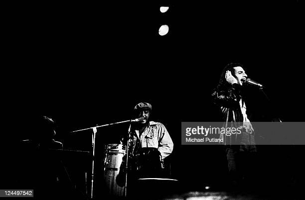 Steely Dan perform on stage Rainbow Theatre London 21st May 1974 Michael McDonald Royce Jones Donald Fagen