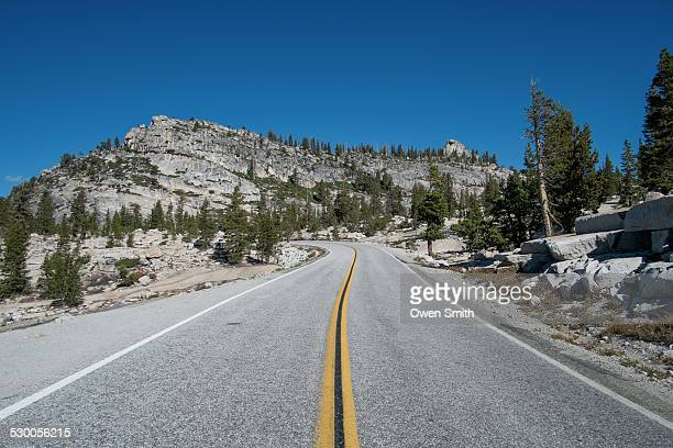 Steep mountain highway, Olmsted Point, Yosemite National Park, California, USA