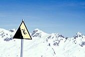 Steep Slope Caution Sign