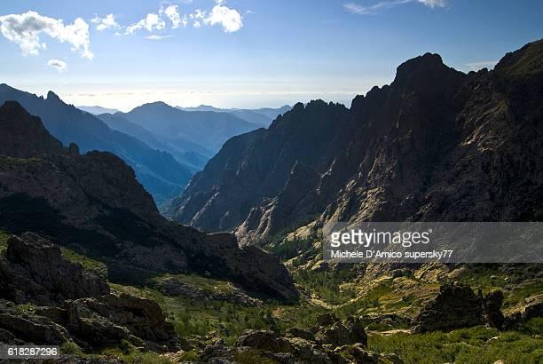 Steep U-shaped rocky valley