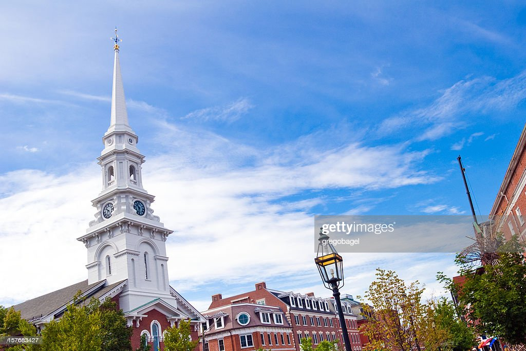 Steeple and sky at Portsmouth, New Hampshire