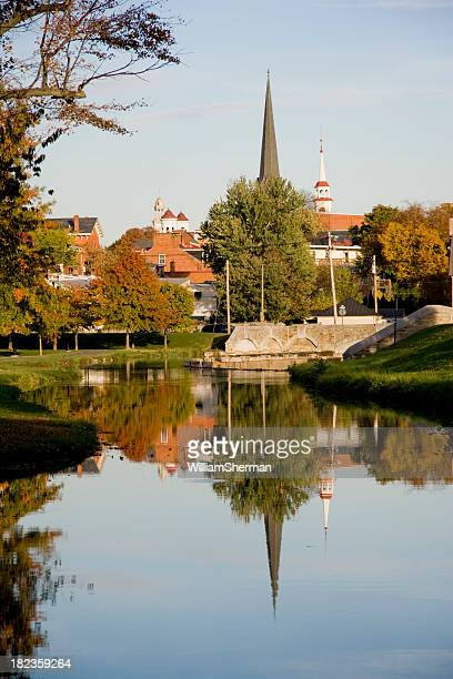 Steeple Reflections on an Autumn Day