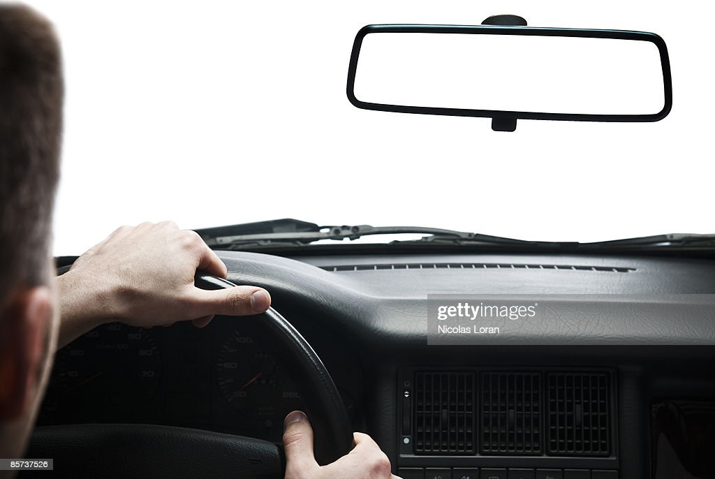 Steering a Car : Stock Photo