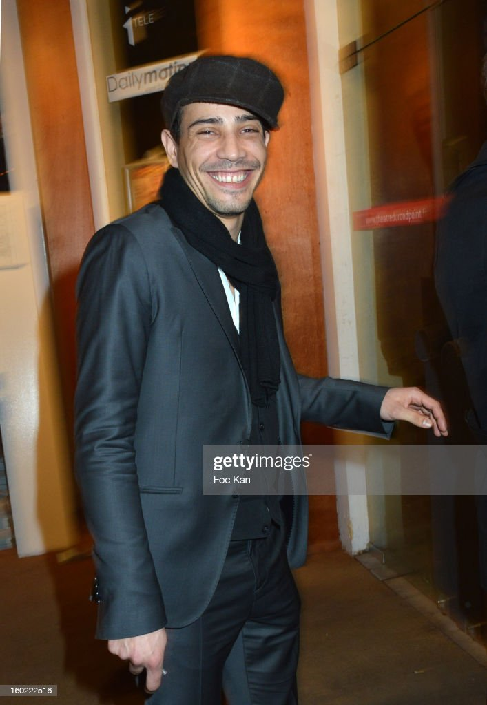 Steevy Boulay attends 'Mariage Pour Tous' at Theatre du Rond-Point on January 27, 2013 in Paris, France.