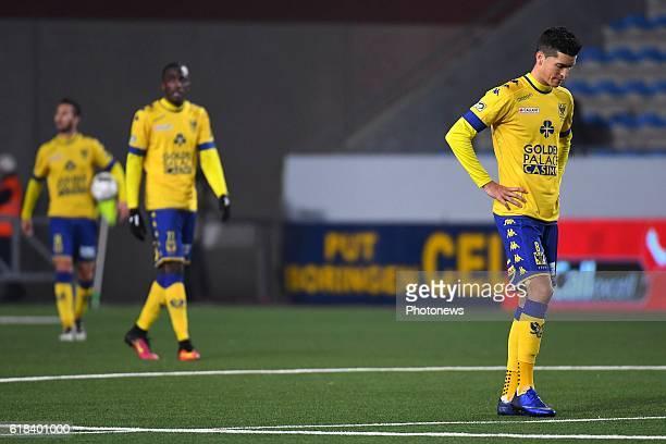 Stef Peeters midfielder of STVV during the Jupiler Pro League match between K SintTruidense VV and SV Zulte Waregem on October 26 2016 in SintTruiden...