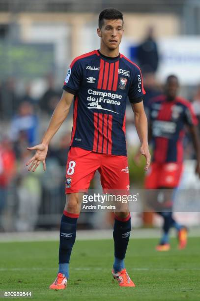 Stef Peeters of Caen during the friendly match between Stade Malherbe Caen and Stade Rennais Rennes on July 22 2017 in Vire France