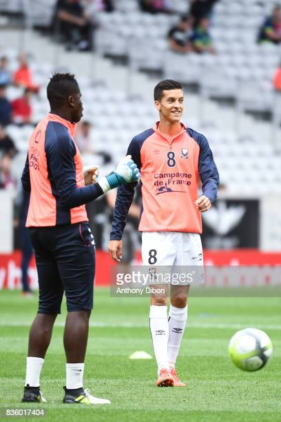 Stef Peeters of Caen during the Ligue 1 match between Lille OSC and SM Caen at Stade Pierre Mauroy on August 20 2017 in Lille