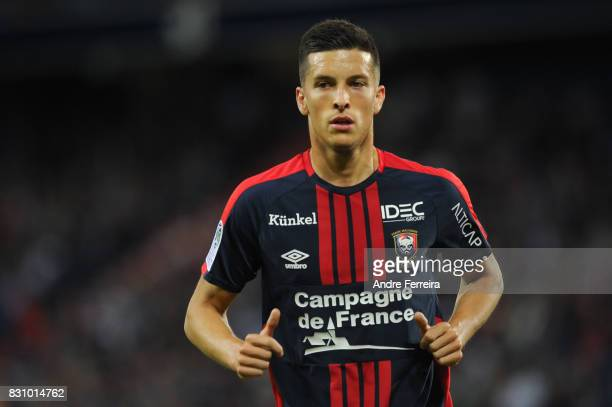 Stef Peeters of Caen during the Ligue 1 match between SM Caen and AS Saint Etienne at Stade Michel D'Ornano on August 12 2017 in Caen