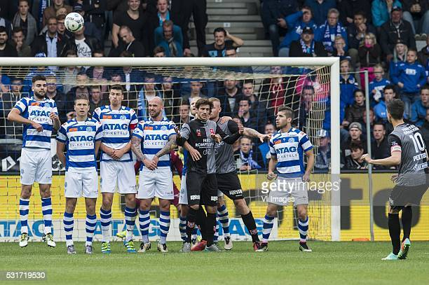 Stef Peeters of MVV takes a free kick during the Playoffs Promotion/Relegation return match between De Graafschap and MVV Maastricht at the...