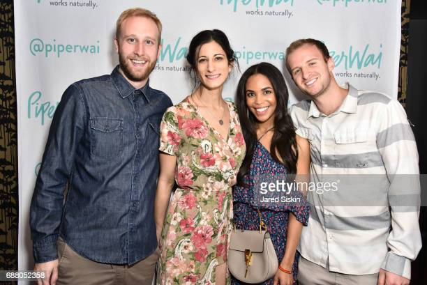 Stefam Vandgraaff Jess Edelstein Sarah Ribner and Travis Chambers attend PiperWai NYC Launch Event at Vnyl on May 24 2017 in New York City