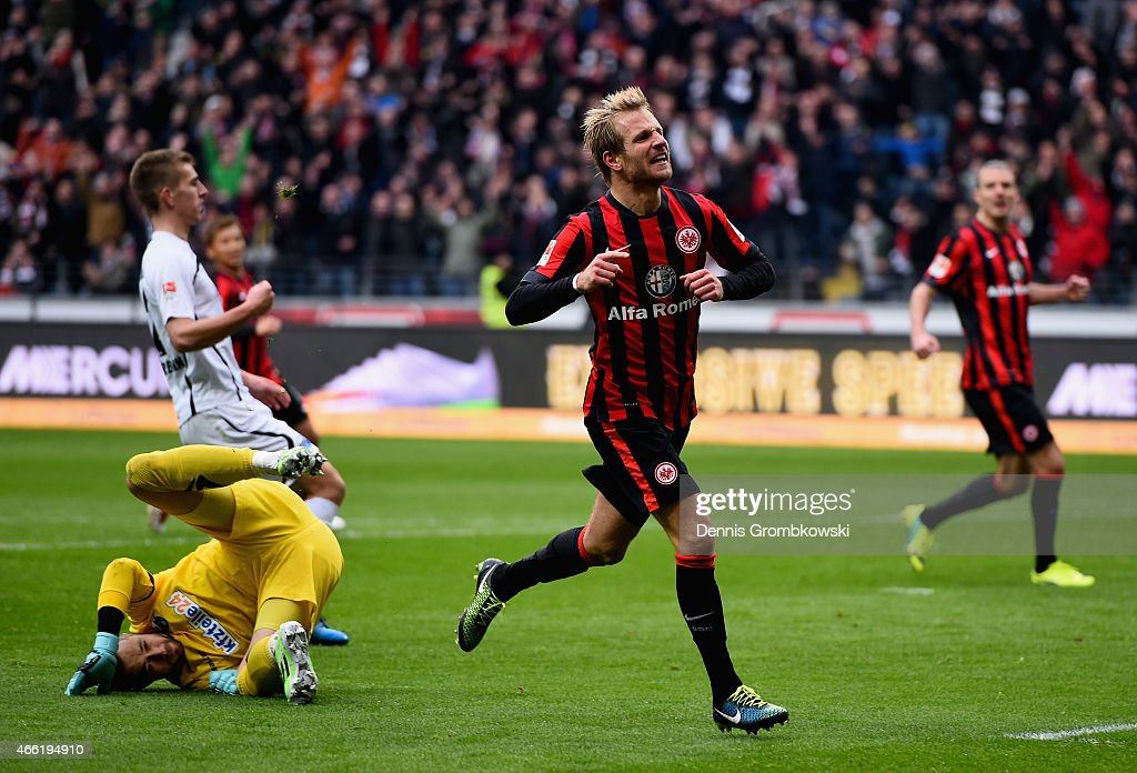 <a gi-track='captionPersonalityLinkClicked' href=/galleries/search?phrase=Stefan+Aigner&family=editorial&specificpeople=764034 ng-click='$event.stopPropagation()'>Stefan Aigner</a> of Eintracht Frankfurt celebrates as he scores the third goal during the Bundesliga match between Eintracht Frankfurt and SC Paderborn 07 at Commerzbank-Arena on March 14, 2015 in Frankfurt am Main, Germany.