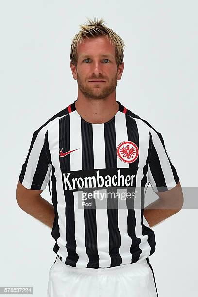 Stefan Aigner poses during the Eintracht Frankfurt Team Presentation on July 21 2016 in Frankfurt am Main Germany