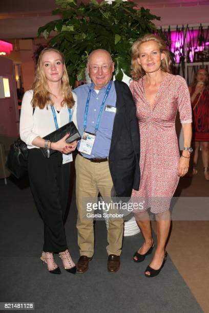 Stefan Aust and his wife Katrin Saenger and their daughter Emilie during the media night of the CHIO 2017 on July 18 2017 in Aachen Germany