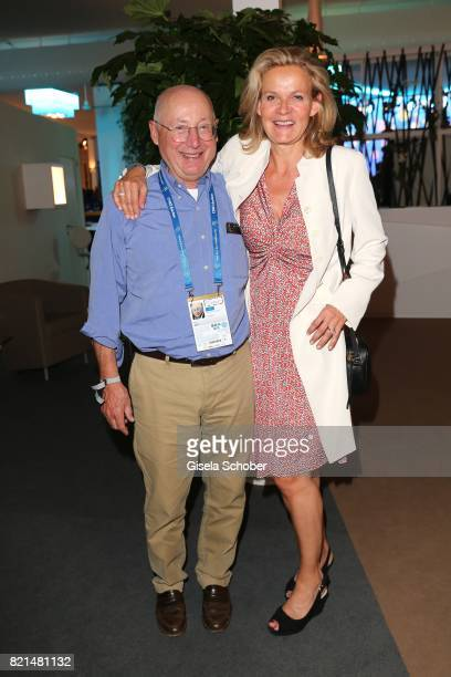 Stefan Aust and his wife Katrin Saenger during the media night of the CHIO 2017 on July 18 2017 in Aachen Germany