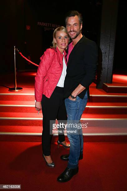 Stefan Bockelmann and his wife Tina attend the Dirty Dancing Musical Premiere at Capitol Theater on January 25 2015 in Duesseldorf Germany