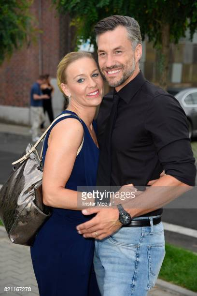 Stefan Bockelmann and his wife Tina Bockelmann attend the Unique show during Platform Fashion July 2017 at Areal Boehler on July 22 2017 in...