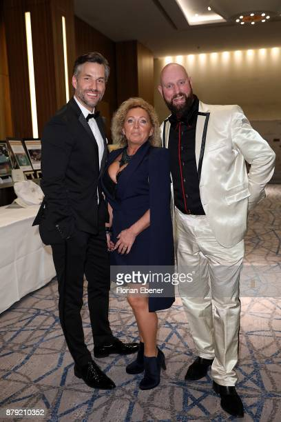 Stefan Bockelmann Patricia Wellmann and Paetrick Lothar Triebel attend the charity event Dolphin's Night at InterContine ntal Hotel on November 25...