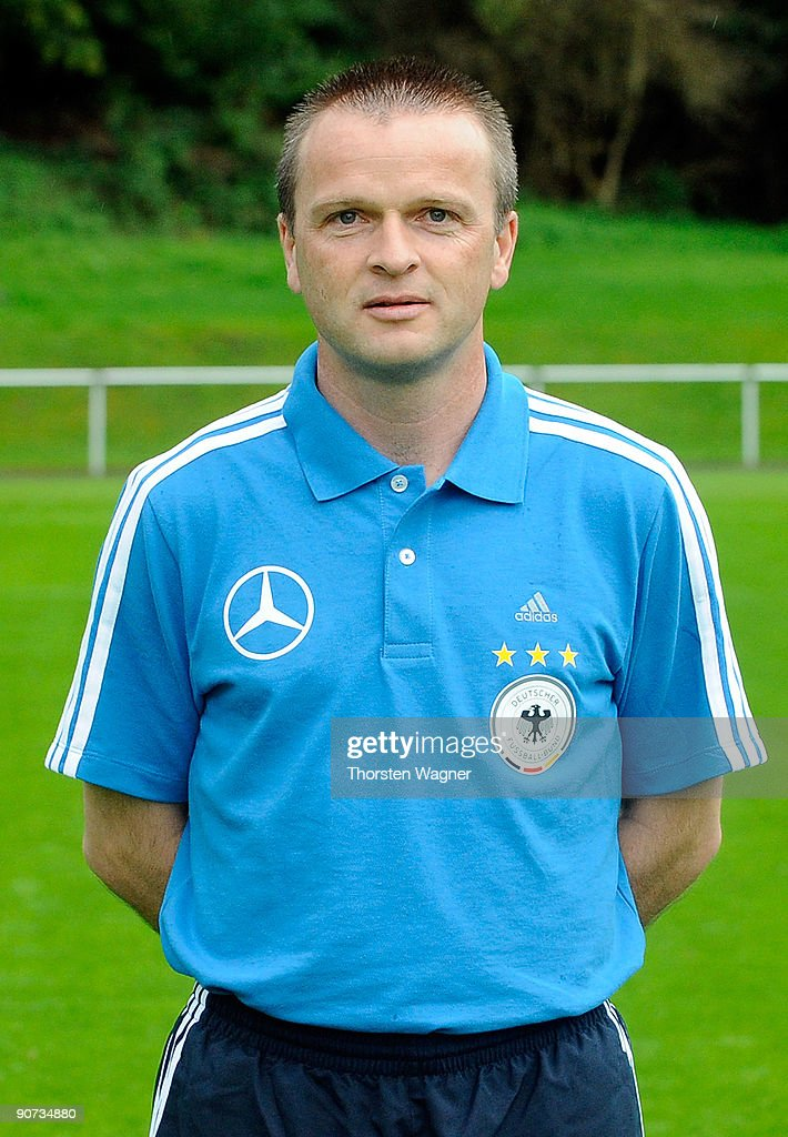 Stefan Boeger, head coach poses during the U17 Germany team presentation at the Sportschule on September 14, 2009 in Hennef, Germany.