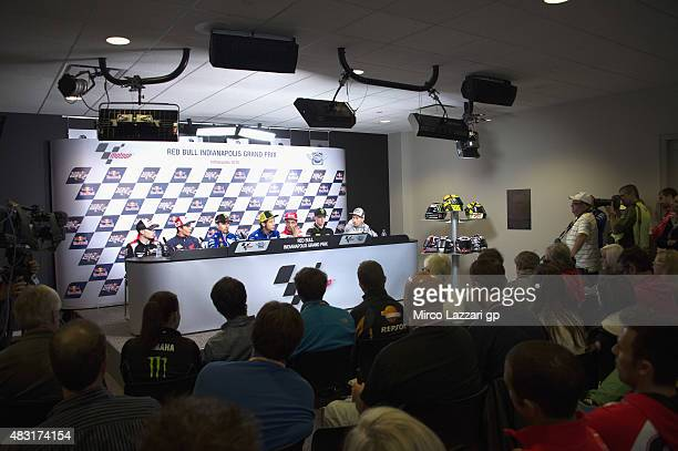 Stefan Bradl of Germany and Factory Aprilia Gresini Marc Marquez of Spain and Repsol Honda Team Jorge Lorenzo of Spain and Valentino Rossi of Italy...