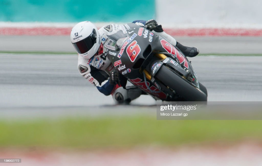 <a gi-track='captionPersonalityLinkClicked' href=/galleries/search?phrase=Stefan+Bradl&family=editorial&specificpeople=4956082 ng-click='$event.stopPropagation()'>Stefan Bradl</a> of Germany and LCR Honda MotoGP rounds the bend during the first day of MotoGP testing at Sepang Circuit on January 31, 2012 in Kuala Lumpur, Malaysia.