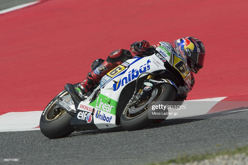 Stefan Bradl of Germany and LCR Honda MotoGP rounds the bend during the MotoGp Tests In Montmelo at Circuit de Catalunya on June 16, 2014 in Montmelo, Spain.