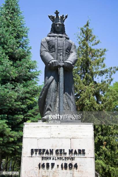 Stefan Cel Mare Stephen the Great statue Piata Libertatii Piatra Neamt Moldavia Romania