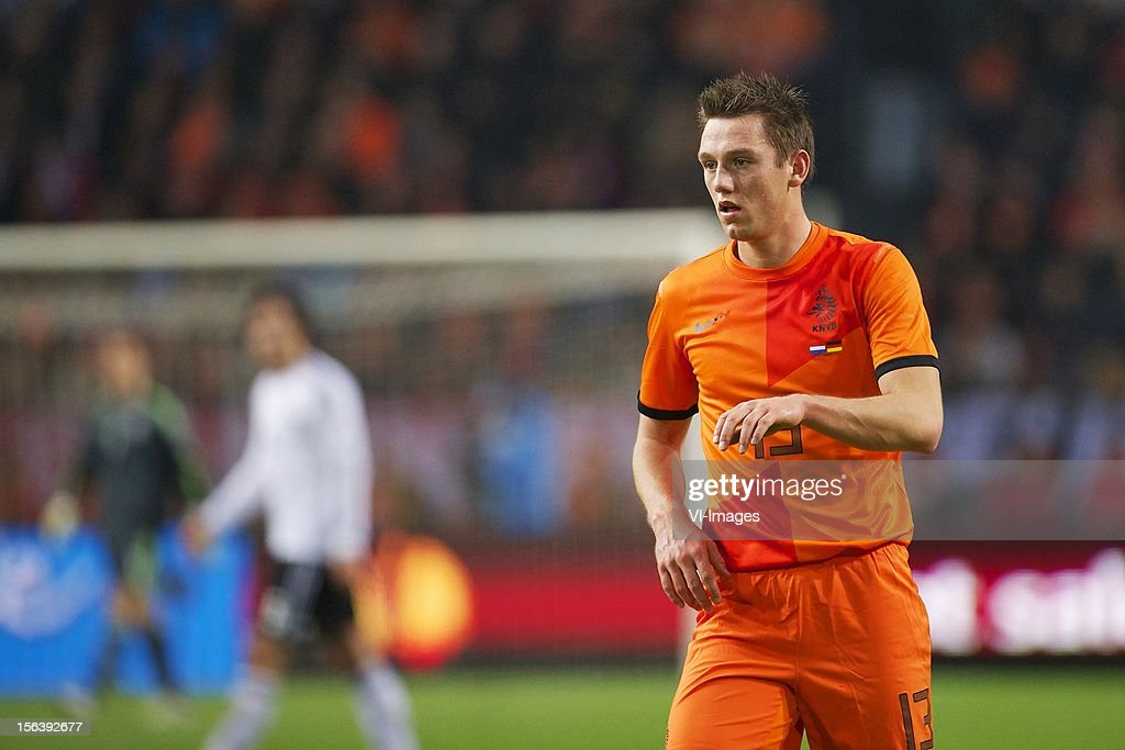 Stefan de Vrij of Holland during the Friendly match between Holland and Germany at the Amsterdam Arena on November 14, 2012 in Amsterdam, The Netherlands.