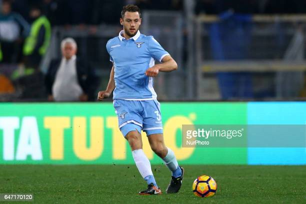 Stefan de Vrij of Lazio during the Italian TIM Cup 1st leg semifinal football match on March 1 2017 at the Olympic stadium in Rome