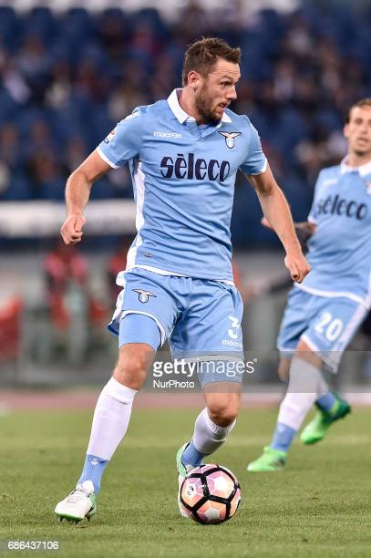 Stefan de Vrij of Lazio during the Serie A match between Lazio v Internazionale on May 21 2017 in Rome Italy