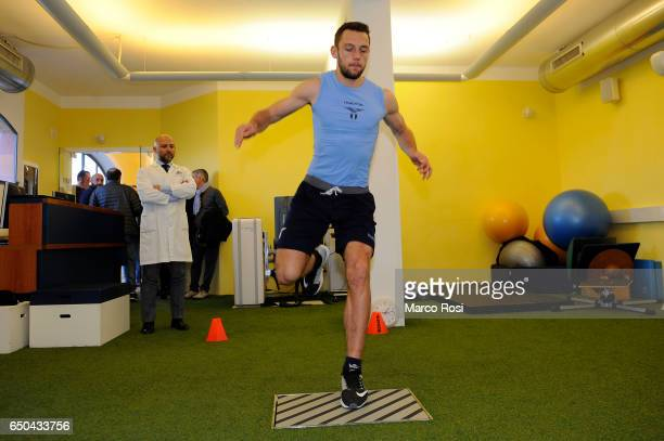 Stefan De Vrij of of SS Lazio Players attend medical tests on March 9 2017 in Rome Italy