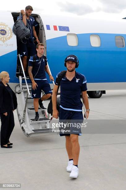 Stefan De Vrij of SS Lazio arrives in Austria on July 28 2017 in Innsbruck Austria